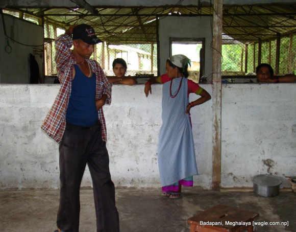 balaram sharma and his wife in poultry farm