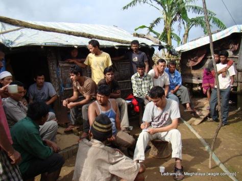 dinesh wagle interviewing meghalaya ladrampai coal mine labourer from nepal shaym prasad pokharel