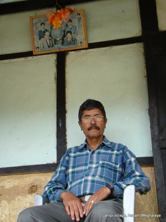 Lampi village headman Chakra Bahadur Chhetri