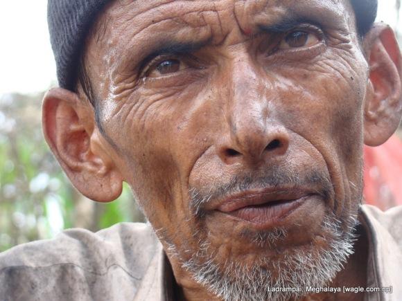 Shaym Prasad Pokharel, a coal mine labourer from Nepal during an interview near a mine in Ladrampai, Meghalaya
