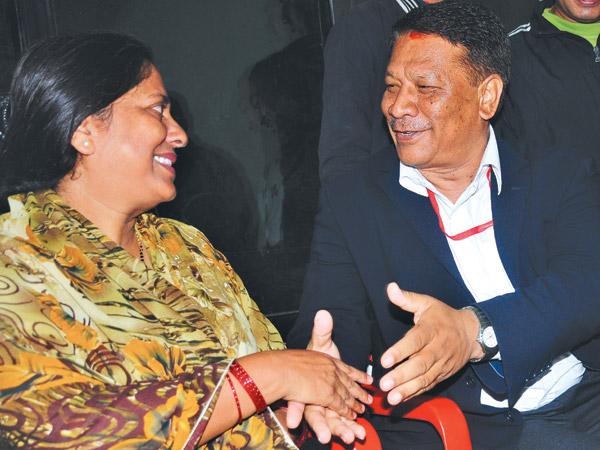prakash man singh and chitralekha yadav