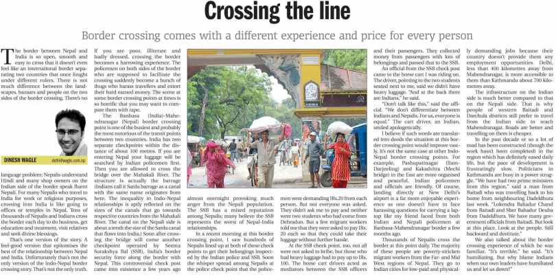 crossing the line kathmandu post p6.Oct26.2010