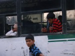 Nepalis inside a bus to Delhi in Banbasa, Indian town bordering far west Nepal.