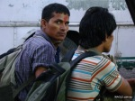 nepalis in banbasa waiting for a bus to delhi