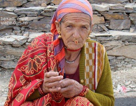 smoking woman of far west nepal1