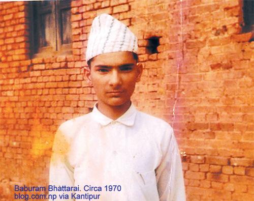 Baburam Bhattarai in 1970