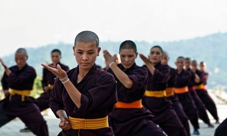 Buddhist Nuns Embrace the Power of Kung Fu