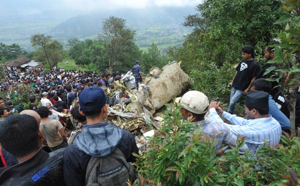 A Buddha Air Plane, Returning to Kathmandu from a Everest Flight, Crashes on a Hill. All 19 on Board Killed