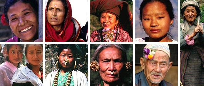 faces of people of nepal