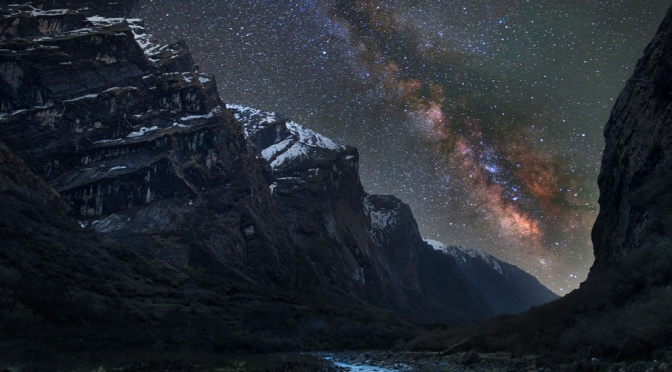 Milky Way as seen from Mardi Khola, Nepal