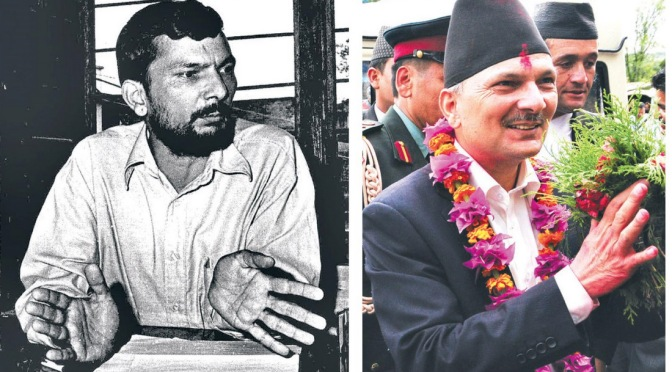 two faces of Baburam Bhattarai
