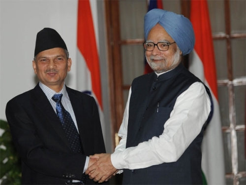 Baburam Bhattarai and Man Mohan Singh