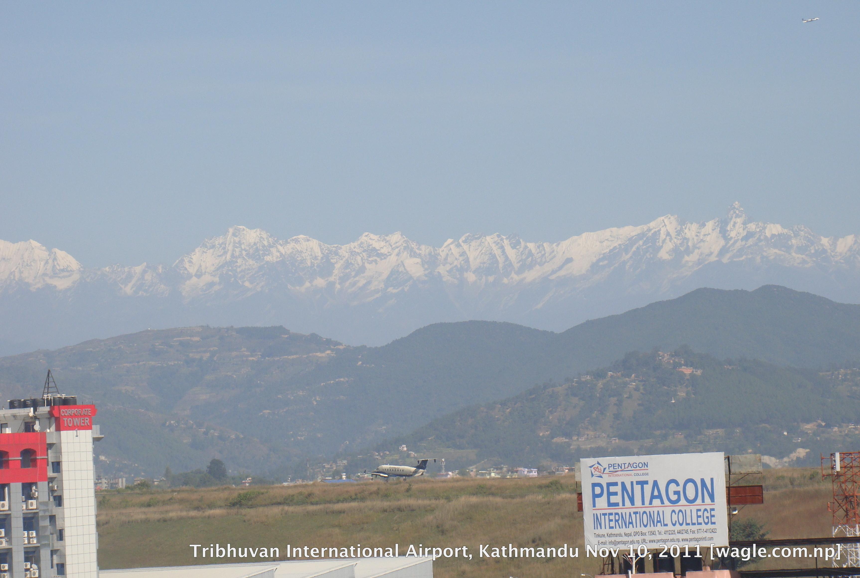 tribhuvan international airport kathmandu nepa