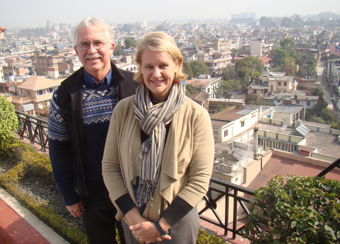 peace corps returns in nepal Andrea Wojnar-Diagne and former volunteer Steve Leclerq