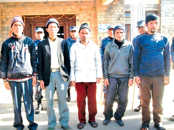 murder suspects: the man in the middle has admitted of burying journalist dekendra thapa alive during police interrogation