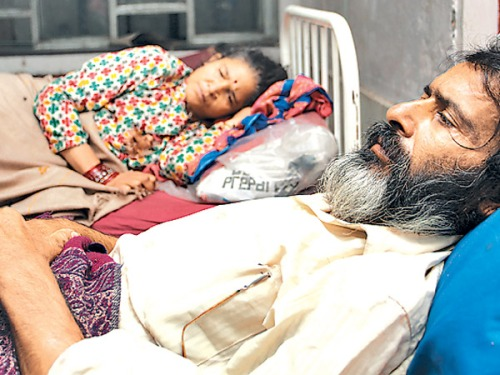 Nanda Prasad Adhikari and Ganga Maya Adhikari have been staging a fast-unto-death seeking justice for their murdered son Krishna Prasad Adhikari. Krishna was killed by Maoist cadres during the Maoist insurgency in Chitwan in 2004.